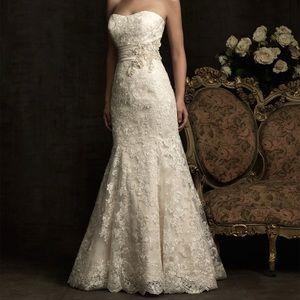 Allure Bridal Mermaid Ivory Wedding Gown 8917